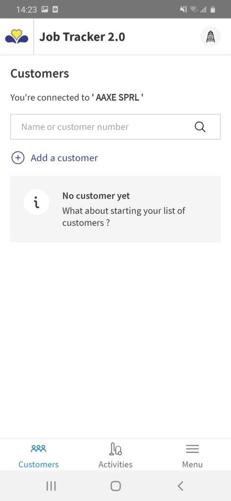 Adding a customer jobtracker 2.0