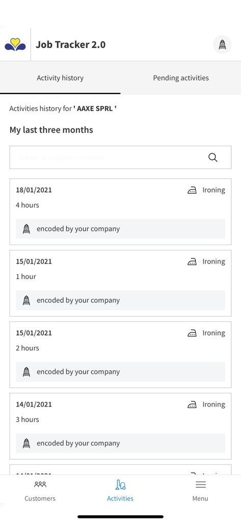activity history job tracker 2.0